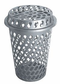 Addis - Slotted Linen Bin - Grey
