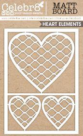 Celebr8 Matt Board Equi - Mesh Hearts