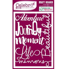 Celebr8 Matt Board Equi - Word Pack