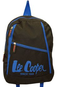 Lee Cooper Small Backpack With Contrast Design-Black Blue