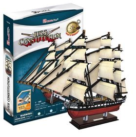Cubic Fun USS Constitution 193 pieces 3D Puzzle