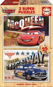 Educa Cars Wooden Puzzle (2x25piece)