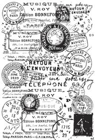 Kaisercraft Background Postmarks Clear Stamp