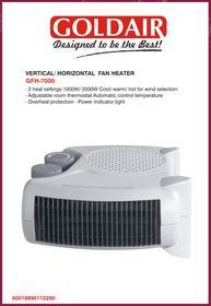 Goldair Vertical Horizontal Fan Heater - White