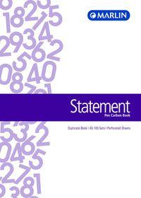 Marlin A5 Duplicate Pen Carbon Book - Statement