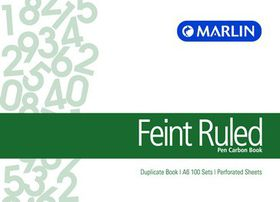 Marlin A6L Duplicate Pen Carbon Book - Feint Ruled