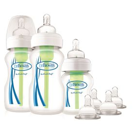 Dr.Brown's - Wide Neck Options Baby Bottle Starter Kit