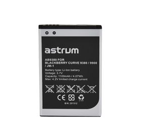 Astrum Replacement Battery for AB9380 for BB Curve 9380 / 9900 / JM-1 - AB9380