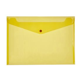 Meeco A4 PP Document Envelope - Yellow