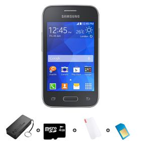 Samsung Young 2 4GB 3G Black - Bundle 6 incl. 1.2GB Starter Pack + Accessories