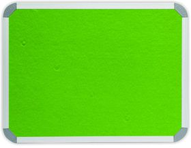 Parrot Info Board Aluminium Frame - Lime Green Felt (900 x 600mm)