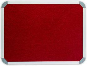 Parrot Info Board Aluminium Frame - Burgundy Felt (900 x 600mm)