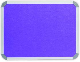 Parrot Info Board Aluminium Frame - Purple Felt (1000 x 1000mm)