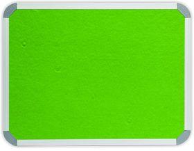 Parrot Info Board Aluminium Frame - Lime Green Felt (1200 x 1200mm)