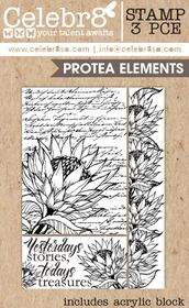 Celebr8 Picture Perfect Stamp - Protea Elements