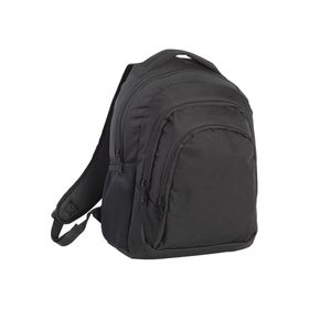 Eco Large Three Compartment Backpack - Black