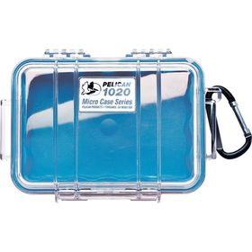 Pelican 1020 Micro Clear Case Blue