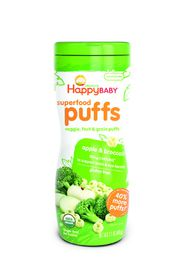 Happy - Baby Organic Puffs Apple and Broccoli - 60g