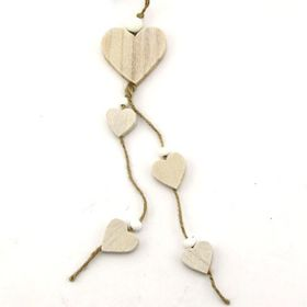 Pamper Hamper Natural Wooden Hearts Decoration