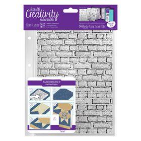 Docrafts Creativity Essentials A5 Clear Stamp Set - Brickwork Background