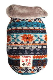 Dog's Life - Chic Vintage Wool Cape Coat - Turquoise Small