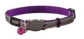 Rogz Night Cat Reflective Safeloc Breakaway Collar - Purple Budgies Design