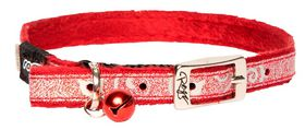 Rogz - Sparkle Cat Pin Buckle Collar - Red