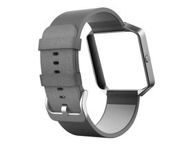 Fitbit Blaze Accessory Band Leather Mist Grey - Small