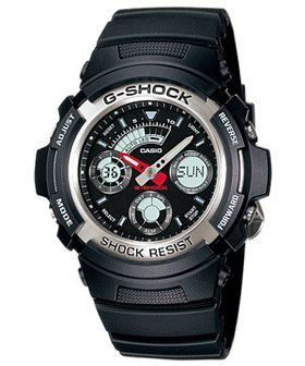 Casio Mens AW-590-1ADR G-Shock World Time Anadigital Watch