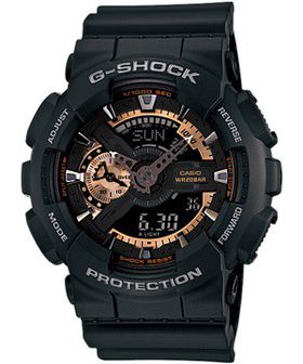 Casio Mens GA-110RG-1ADR G-Shock Anadigital Watch