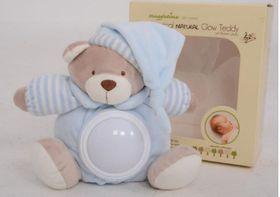 Snuggletime - Classical Plush Natural Glow Teddy - Blue