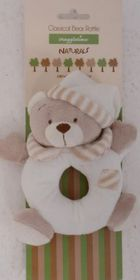 Snuggletime - Classical Plush Bear Rattle - Beige