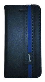 Scoop Executive Folio For Samsung J1 Mini - Black & Blue