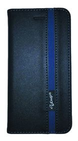 Scoop Executive Folio For Samsung S7 Edge - Black & Blue