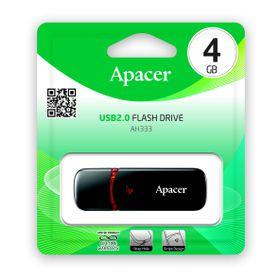 Apacer AH333 4GB USB2.0 Flash Drive - Black