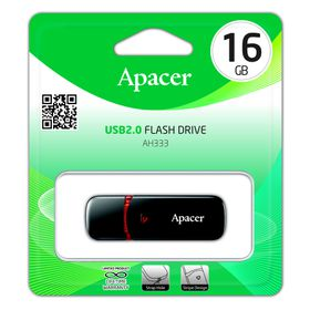 Apacer AH333 16GB USB2.0 Flash Drive - Black