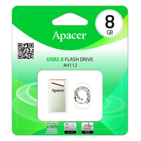 Apacer AH112 8GB USB2.0 Flash Drive - Red