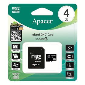 Apacer 4GB MicroSDHC Card with Adaptor - Class 4