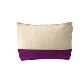 Ladies Canvas Cosmetic Bag - Purple
