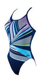 Womens Zoggs Rubix Sprintback Swimming Costume