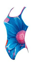 Womens Zoggs Bloom Twinback Swimming Costume