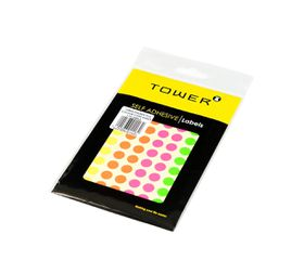 Tower C10 Colour Code Labels (Sheets) - 10mm - Mixed Fluorescent