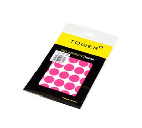 Tower C19 Colour Code Labels (Sheets) - Fluorescent Pink