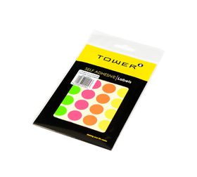 Tower C19 Colour Code Labels (Sheets) - Mixed Fluorescent