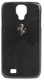 Ferrari Gt for Samsung Galaxy S4 Carbon Case - Black Frame