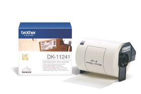 Brother DK-11241 Large Shipping Labels (102mm x 152mm) Roll - Black on White Thermal Paper