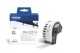 Brother DK-22214 Continuous Length Paper Tape (12mm x 30.48m) - Black on White