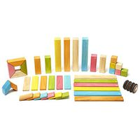 Tegu 42 Piece Magnetic Wooden Block Set, Tints