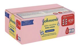 Johnson and Johnson - Extra Sensitive Fragrance Free Wipes - 432's