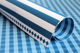 Lady Pattern Paper Basic Essentials Gingham - Dazzling Blue (10 Sheets)